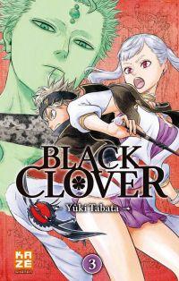Black clover T3, manga chez Kazé manga de Tabata