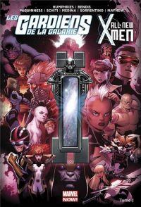 Les Gardiens de la Galaxie / All-New X-Men T1 : Le Vortex Noir (1), comics chez Panini Comics de Humphries, Bendis, Medina, Anka, McGuinness, Sorrentino, Mayhew, Schiti, Gracia, Keith, Beredo, Maiolo, Curiel
