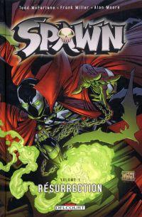 Spawn – Archives, T1 : Résurrection (1), comics chez Delcourt de Moore, McFarlane, Miller, Oliff, Olyoptics, Rude