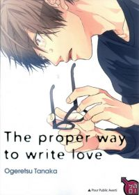 The proper way to write love, manga chez Taïfu comics de Ogeretsu