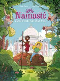 Namaste T2 : Dans l'ombre du dieu singe, bd chez Sarbacane de Simon, Guarino