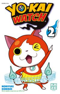 Yo-kai watch  T2, manga chez Kazé manga de Level-5, Konishi