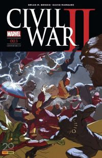 Civil War II T3, comics chez Panini Comics de Shalvey, Bendis, Marquez, Izaakse, Bellaire, Ponsor, Djurdjevic