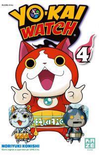 Yo-kai watch  T4, manga chez Kazé manga de Konishi, Level-5