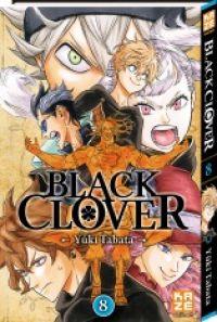 Black clover T8, manga chez Kazé manga de Tabata