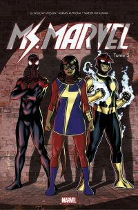 Miss Marvel T5 : Guerre civile (0), comics chez Panini Comics de Wilson, Alphona, Miyazawa, Andolfo, Herring, Kniivila, Lopez