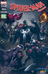 Spider-Man Universe T4 : Un nouvel hôte (0), comics chez Panini Comics de Thompson, David, Rosenberg, Costa, Sandoval, Stockman, Boschi, Sliney, Campbell, Brown, Almara, Rosenberg, Mattina