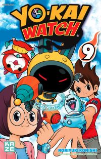 Yo-kai watch  T9, manga chez Kazé manga de Konishi, Level-5