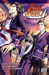 Food wars  T23, manga chez Delcourt Tonkam de Tsukuda, Saeki