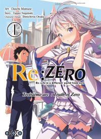Re:Zero – 3e arc Truth of zero, T1, manga chez Ototo de Nagatsuki, Matsuse