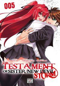 The testament of sister new devil - Storm T5, manga chez Delcourt Tonkam de Tetsuto, Nitroplus