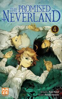 The promised neverland T4, manga chez Kazé manga de Shirai, Demizu