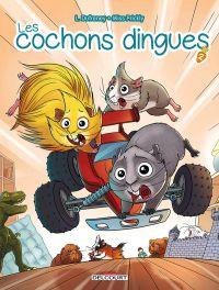 Les Cochons dingues T2, bd chez Delcourt de Dufreney, Prickly, Paillat