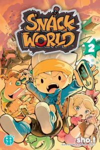 Snack world T2, manga chez Nobi Nobi! de Level-5, SHO.T