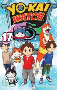 Yo-kai watch  T17, manga chez Kazé manga de Level-5, Konishi