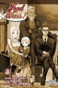 Food wars  T34, manga chez Delcourt Tonkam de Tsukuda, Saeki