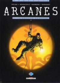 Arcanes T3 : Le dossier Karadine (0), bd chez Delcourt de Pécau, Kovačević, Rabarot