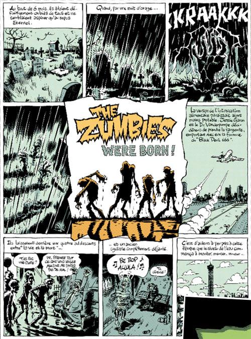 The zumbies T1, bd chez Fluide Glacial de Lindingre, Julien/CDM