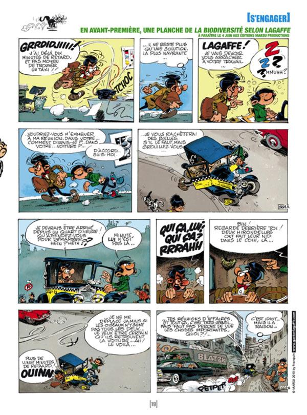 Gaston : La biodiversité selon Lagaffe (0), bd chez Marsu Productions de Franquin