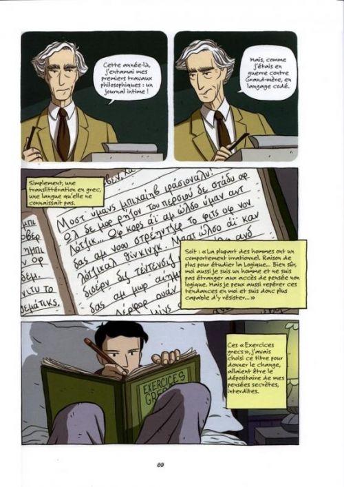 Logicomix, comics chez Vuibert de Papadimitriou, Doxiadis, Papadatos, Di donna