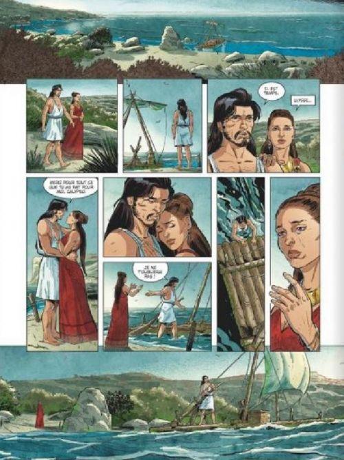 L'Odyssée T3 : La ruse de Pénélope (0), bd chez Glénat de Bruneau, Baiguera