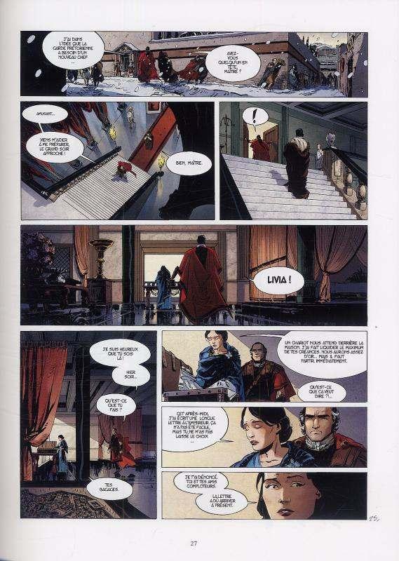 Le troisième testament : Julius T1, bd chez Glénat de Alice, Dorison, Recht, Lapierre