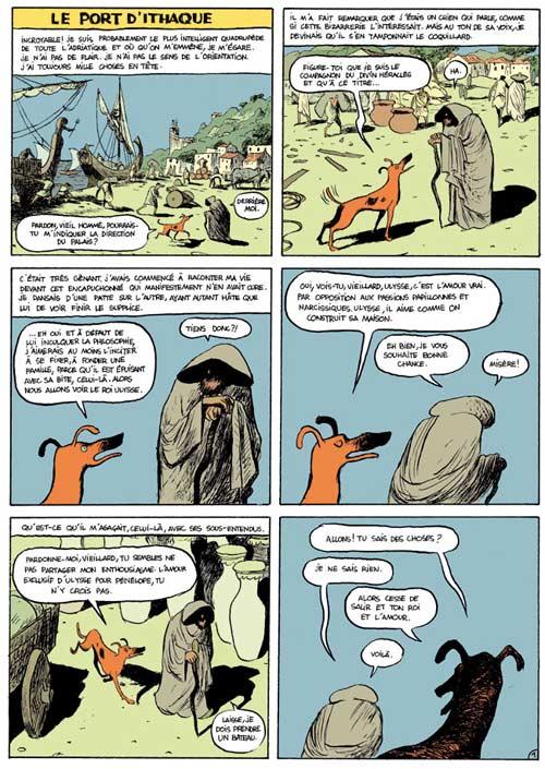 Socrate le demi-chien T2 : Ulysse (0), bd chez Dargaud de Sfar, Blain, Jardel