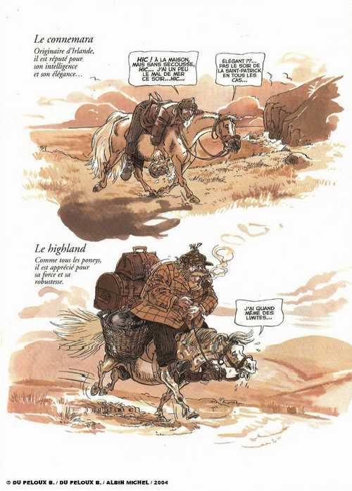 À cheval, bd chez Albin Michel de du Peloux