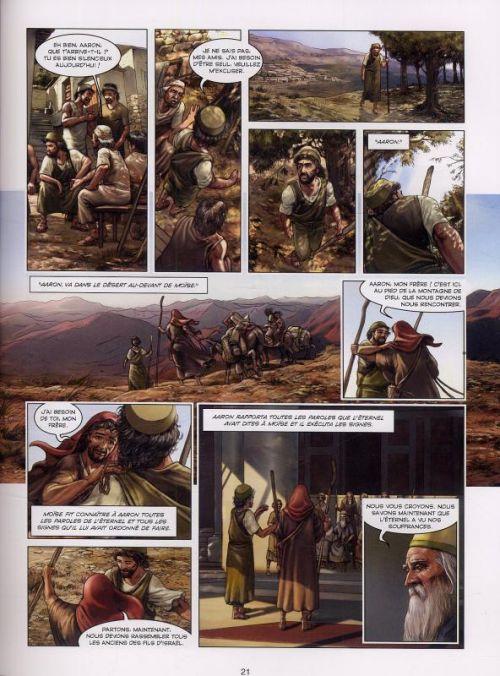 La Bible – cycle L'ancien testament, T1 : L'exode (0), bd chez Delcourt de Dufranne, Camus, Zitko, Davidenko