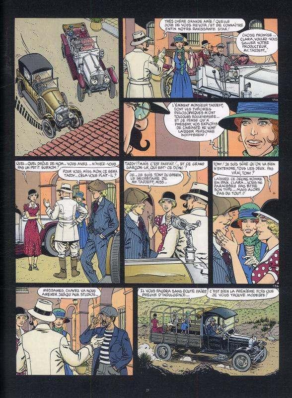 Victor Sackville T23 : Le derviche de Hollywood (0), bd chez Le Lombard de Rivière, Borile, Carin, Bastin