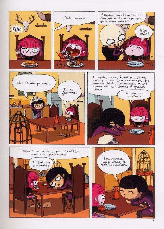 Cruelle Joëlle T1 : La vie n'est pas si simple, Madame Lamort ! (0), bd chez Sarbacane de Cali, Ninie
