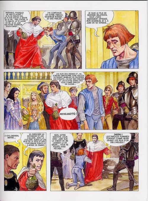 Borgia T1 : Du sang pour le pape (0), bd chez Albin Michel de Jodorowsky, Manara