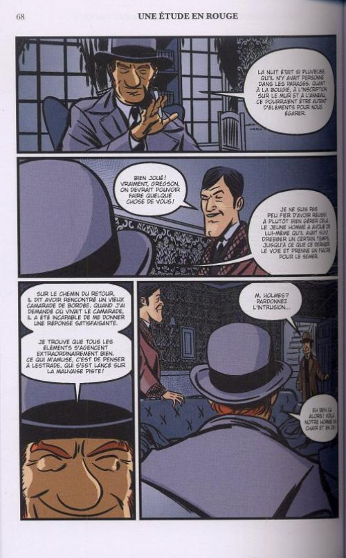 Une Histoire illustrée de Sherlock Holmes T2 : Une étude en rouge (0), comics chez Akileos de Doyle, Edginton, Culbard
