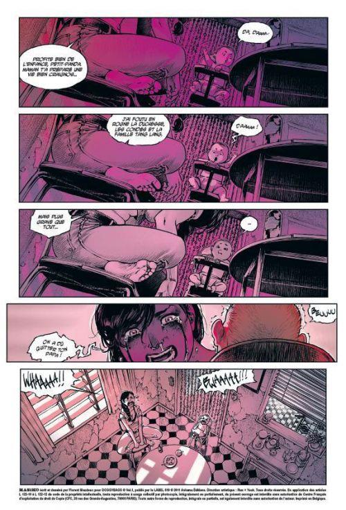 Doggybags T1 : Fresh flesh & hot chrome / Masiko / Mort ou vif (0), comics chez Ankama de Run, Maudoux, Singelin