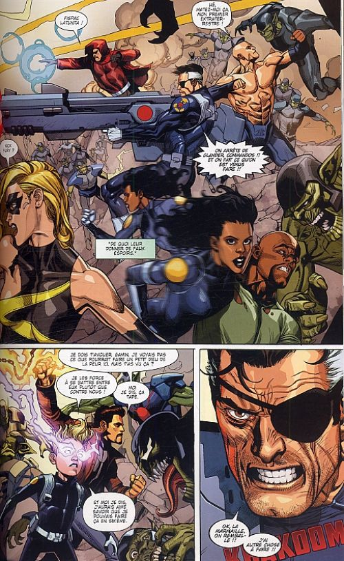 Secret Invasion, comics chez Panini Comics de Bendis, Yu, Warren, Strain, Martin, McNiven