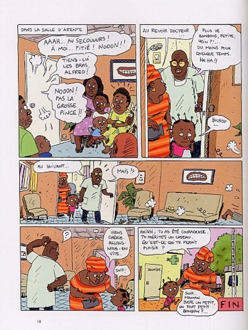Akissi T2 : Super-héros en plâtre (0), bd chez Gallimard de Abouet, Sapin