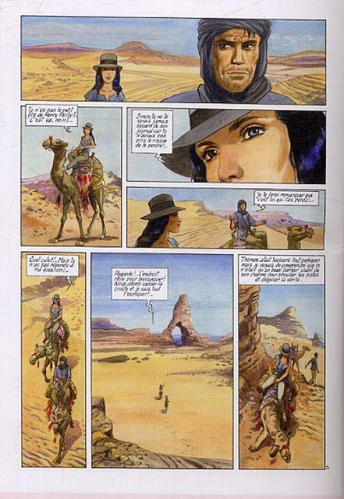 Ella Mahé T4 : La couleur des dieux (0), bd chez Glénat de Charles, Charles, Simon, Wesel