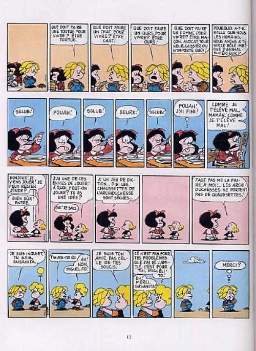 Mafalda T9 : Les vacances de... (0), bd chez Glénat de Quino
