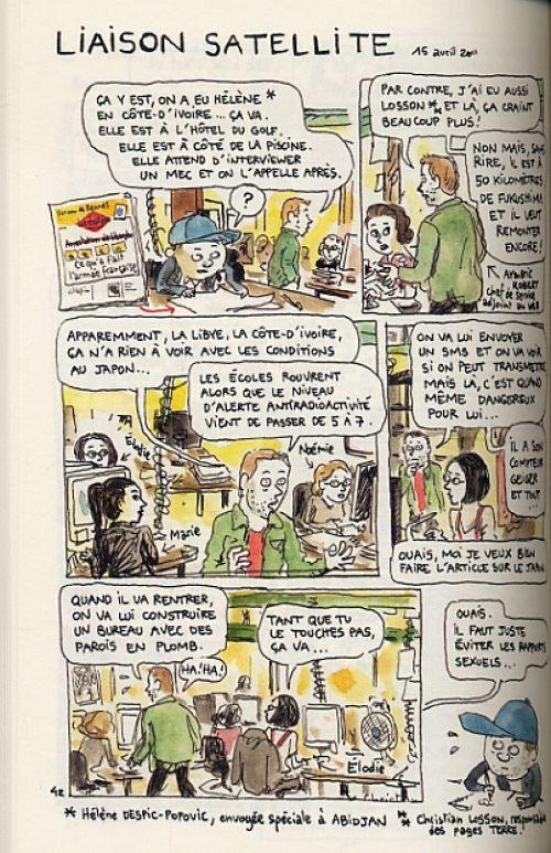 Journal d'un journal, bd chez Delcourt de Sapin
