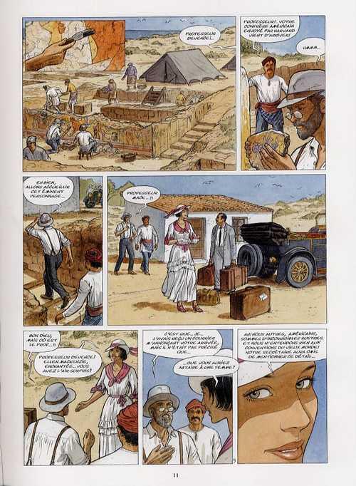 Déesses T1 : La Grande Ile (0), bd chez Glénat de Pierret, Denoël