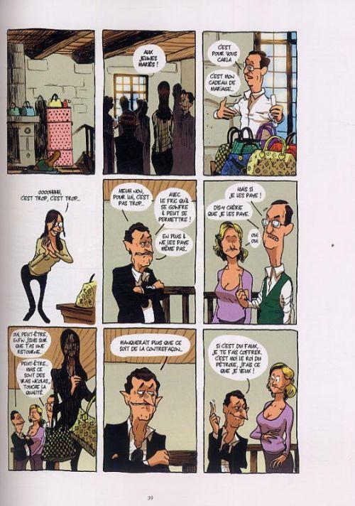 Sarkozy et les riches, bd chez Drugstore de Dély, Aurel