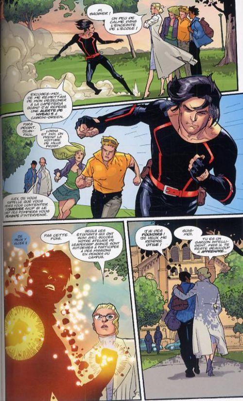 Ultimate X-Men – Deluxe, T6 : Nord magnétique (0), comics chez Panini Comics de Carey, Vaughan, Johns, Ferry, Raney, Immonen, Yu, Lopresti, Dillon, Chung, Mounts, McCaig, Going-Raney, Schwager, Ponsor, Hi-Fi Design, Guru efx