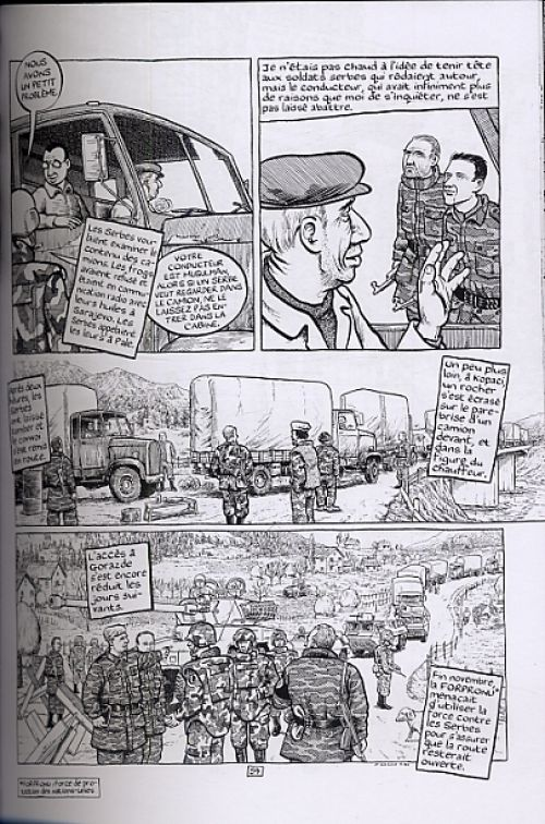 Gorazde, comics chez Rackham de Sacco