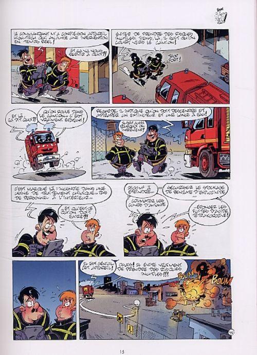 Les pompiers T11 : Flammes au volant (0), bd chez Bamboo de Cazenove, Stédo, Favrelle