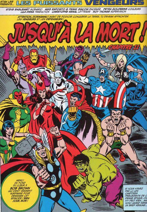Marvel Classic – V 1, T4 : Vengeurs vs Défenseurs (0), comics chez Panini Comics de Englehart, Busiek, Brown, Bagley, Roussos, Sotomayor, Goldberg, Romita Sr