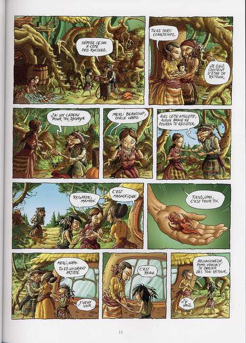 Abinagouesh T1 : Le feu sacré (0), bd chez Delcourt de Tessier, Lafleur, Lorien
