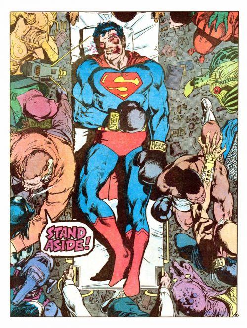 Superman vs. Muhammad Ali, comics chez Atlantic de Adams, O'neil, Adams