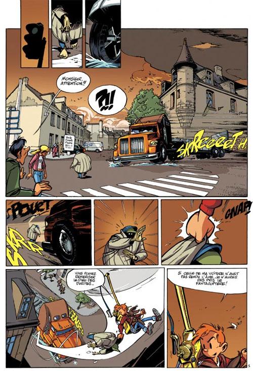 Spirou et Fantasio T48 : L'homme qui ne voulait pas mourir (0), bd chez Dupuis de Morvan, Munuera, Lerolle