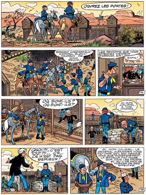 Les Tuniques bleues T49 : Mariage à Fort Bow (0), bd chez Dupuis de Cauvin, Lambil, Léonardo