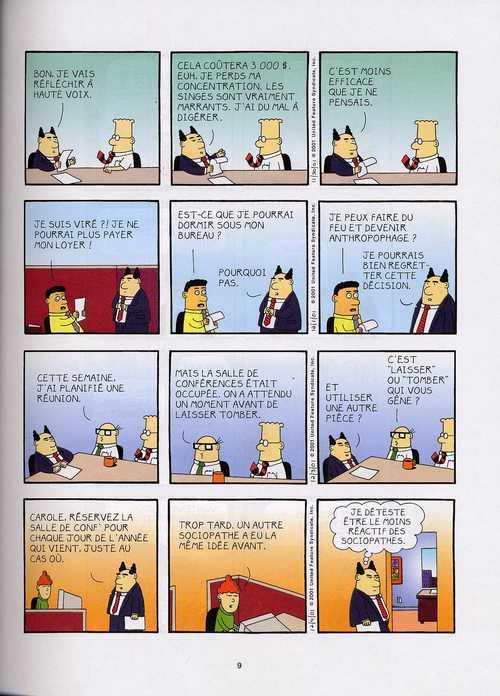 Dilbert T1 : Dis-le avec ton corps (0), comics chez Dargaud de Adams